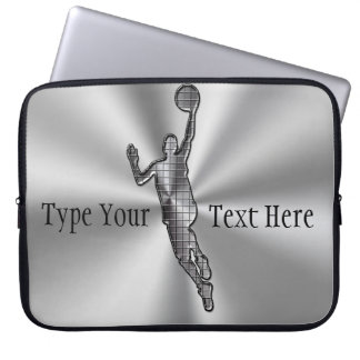 Silver Custom Laptop Sleeves 15.6,  ADD Your TEXT