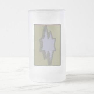 Silver  cutout star frosted mug