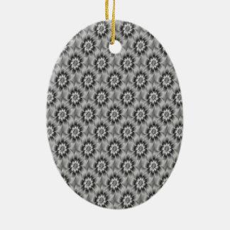 Silver Daisies Ornament