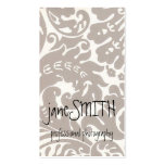Silver Damask Business Card Templates