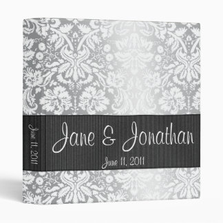 "Silver Damask Custom 1"" Wedding Binder"