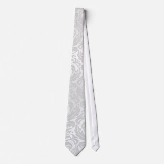 Silver Damask Holiday Christmas Tie