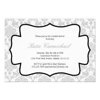 Silver Damask Invitation