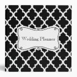 Silver Damask Wedding Planner 3 Ring Binder
