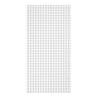 Silver Dandelion Gingham Check Plaid Pattern Card