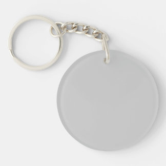 Silver Dandelion in an English Country Garden Double-Sided Round Acrylic Keychain