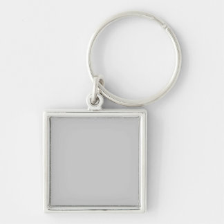 Silver Dandelion in an English Country Garden Silver-Colored Square Keychain