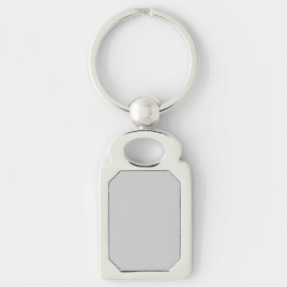 Silver Dandelion in an English Country Garden Silver-Colored Rectangle Keychain