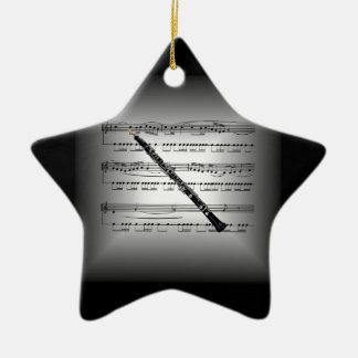 ~Silver de la almohada de la partitura del ~ de Adorno Navideño De Cerámica En Forma De Estrella