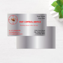 Silver Dead Roach Pest Service 1 Sided  v2 Business Card