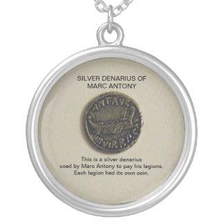 Silver Denarius of Marc Antony Photo Necklace