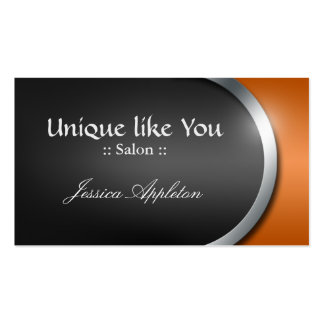 Silver-Design Curve - Orange Appointment Cards Business Card Templates