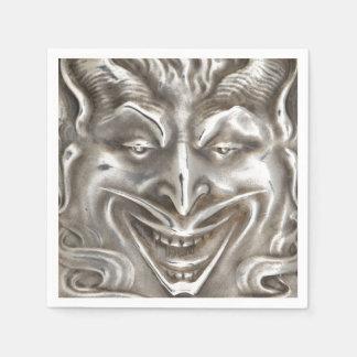 Silver Devil Demon Halloween Party Antique Paper Napkin