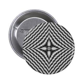 Silver Diamond Star Button