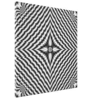 Silver Diamond Star Stretched Canvas Print