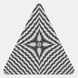 Silver Diamond Star Triangle Sticker