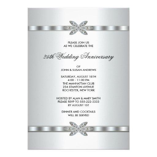 Silver Diamonds 25th Anniversary Party 5x7 Paper ...