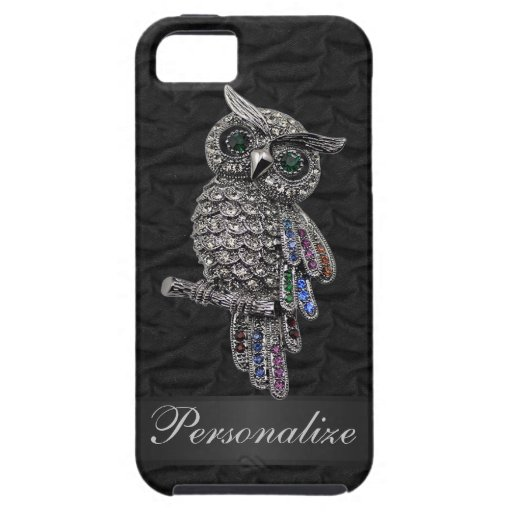Silver & Digital Jewels Owl IMAGE Personalized iPhone 5 Covers