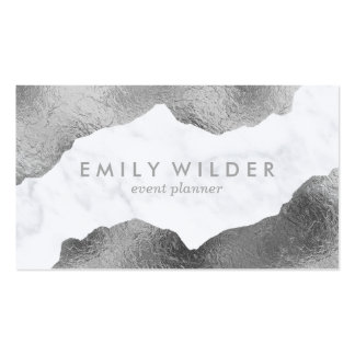 Silver Dipped Marble | Business Card