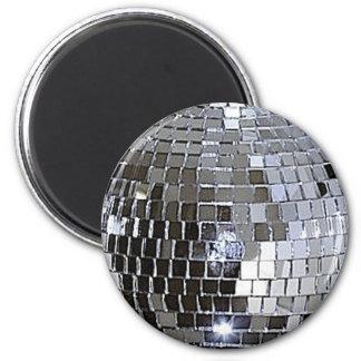 Silver Disco Ball 2 Inch Round Magnet