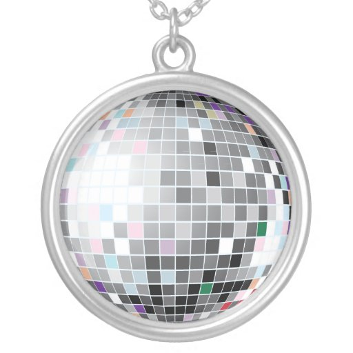 Silver Disco Ball Chain Pendants