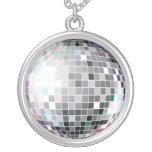 Silver Disco Ball Chain Pendants
