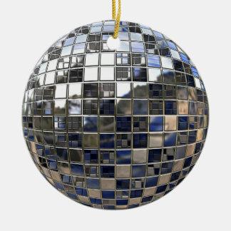 Silver Disco Ball Mirror Ornament