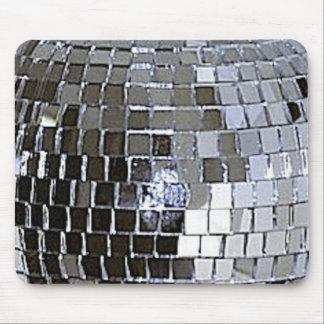 Silver Disco Ball Mouse Pad