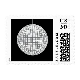 Silver Disco Ball Postage