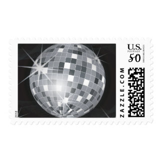 silver disco ball postage postal stamps