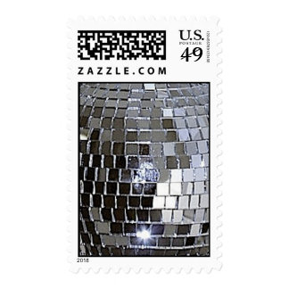 Silver Disco Ball Postage Stamps