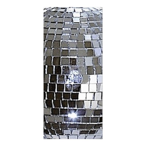 Silver Disco Ball Rack Card