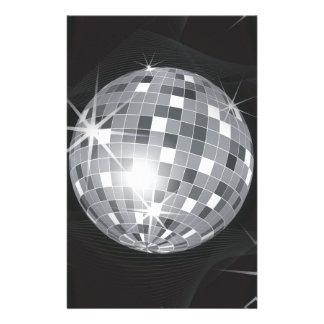 silver disco ball stationery