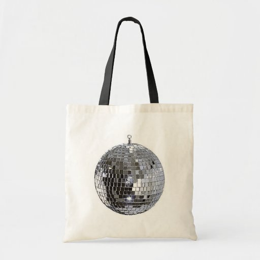 Silver Disco Ball Tote Bag
