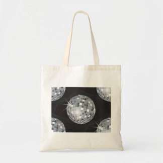 silver disco ball tote bag