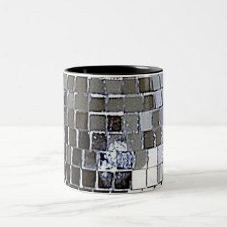 Silver Disco Ball Two-Tone Coffee Mug