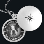 """Silver Dog Memorial Locket Necklace<br><div class=""""desc"""">A comforting gift dog memorial for your four legged best friend.</div>"""
