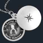 "Silver Dog Memorial Locket Necklace<br><div class=""desc"">A comforting gift dog memorial for your four legged best friend.</div>"