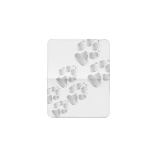 Silver dog paw business card holder