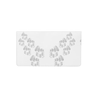 Silver dog paw checkbook cover