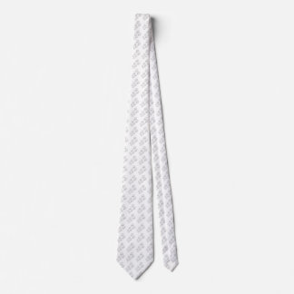 Silver dog paw neck tie