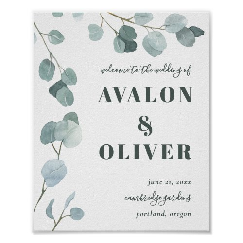 Silver Dollar Eucalyptus Wedding Poster