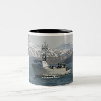 Silver Dolphin, Crab Boat in Dutch Harbor, Alaska Two-Tone Coffee Mug