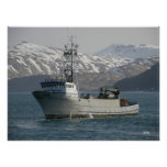 Silver Dolphin, Crab Fishing Boat Poster