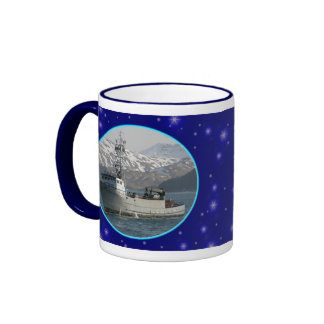 Silver Dolphin, Dutch Harbor, Alaska Ringer Mug