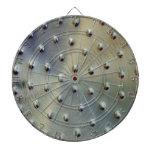 Silver Dots Dart Board