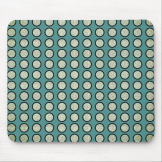 Silver-Dots_Ocean-Blue_Bling__Unisex Mouse Pad