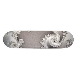 Silver Double Spiral Skateboard