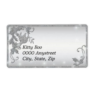 Silver Dove Large Shipping Labels