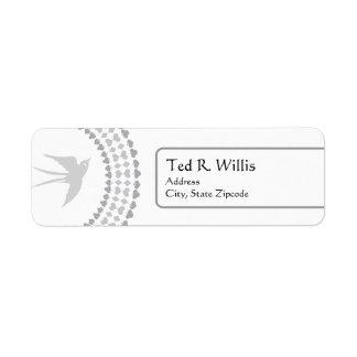 Silver Dove Religious Address Label